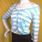 80S TREND RUNWAY FASHION CLOTHING STREET STYLE SCENE CLOTHES STRIPED 2PC CROP TOP