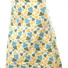 Unique cute hearts print career work skirt