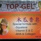 6 PCS TOP-GEL PAPAYA Whitening SOAP Squalene AHA Collagen, FREE SHIPPING