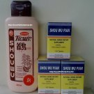 3 pc. Shouwu Hair Grower Pills + 1 Shouwu Shampoo Combo Pack