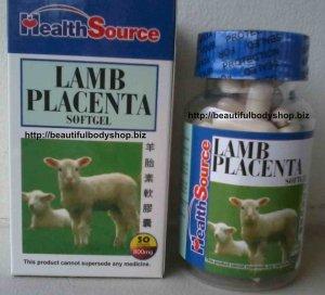 Health Source Anti Ageing Lamb Sheep Placenta softgel capsules, 50 softgels