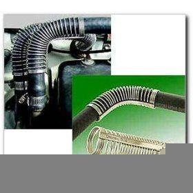 "3/4"" Unicoil when curved molded hose isn't available"
