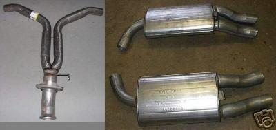Y Pipe & Both Rear Mufflers 1986-90 Chevrolet CORVETTE