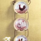 31185 Rooster hanging plate set