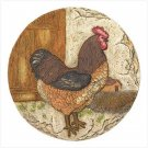 38806 Rooster stepping stone