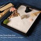 Zen Garden Kit 11x8 inch Beautiful premium Japanese Mini Rock Garden Meditation Decor