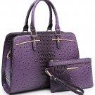 Women Satchel Handbags Shoulder Purses Totes Top Handle Work Bags with 3 Compartments