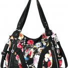 Women Top Handle Satchel Handbags Shoulder Bag Messenger Tote Washed Leather Purses Bag