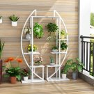 5-Tier Plant Stand Pack of 2, Multi-Purpose Curved Display Shelf Bonsai Flower Plant Stand