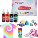 Tie Dye Kit 24 Colors Non-Toxic Permanent All-in-1 DIY Dye Kit Set for Craft Arts