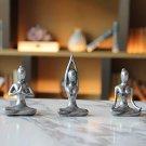 Yoga Meditation décor,Yoga Pose Statue Home Decoration, set of 3