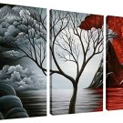 The Cloud Tree Wall Art Oil PaintingS Giclee Landscape Canvas Prints for Home Decorations, 3 Panels