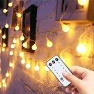 Globe String Lights 49ft 100 Led with Remote Timer,Indoor String Lights