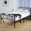 Twin Bed Frame with Headboard, 14 Inch Single Metal Platform Bed Frame Twin, No Box Spring Needed