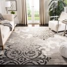 Floral Glam Damask Distressed Non-Shedding Stain Resistant Living Room Bedroom Area Rug