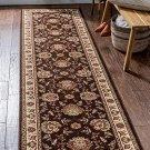 "Timeless Abbasi Traditional Persian Oriental Brown Rug 2'7"" x 12' Runner"