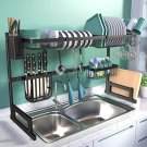 Over The Sink Dish Drying Rack, 2-Tier Dish Rack Width Adjustable Dish Drainer