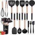 Silicone Cooking Utensil Set, 14pcs Kitchen Utensils Set Non-stick Heat Resistant Cookware
