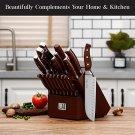 19-Piece Premium Kitchen Knife Set With Wooden Block