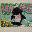 TY Beanie Baby Card # 153 Waves the Whale - Style # 4084