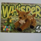 TY Beanie Baby Card # 155 Whisper the Deer - Style # 4194