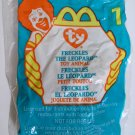 """TY McDonald's Beanie #1 """"Freckles The Leopard"""" 1999"""