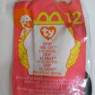 """McDonald's TY Beanie #12 """"Chip The Cat"""" 1999"""