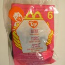 """McDonald's TY Beanie #6 """"Bumble The Bee"""" 2000"""