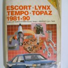 1981-90 Escort, Lynx, Tempo,Topaz - Chilton's Repair Manual