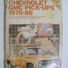 1970-86 Chevrolet GMC Pick-ups Chilton Repair Book