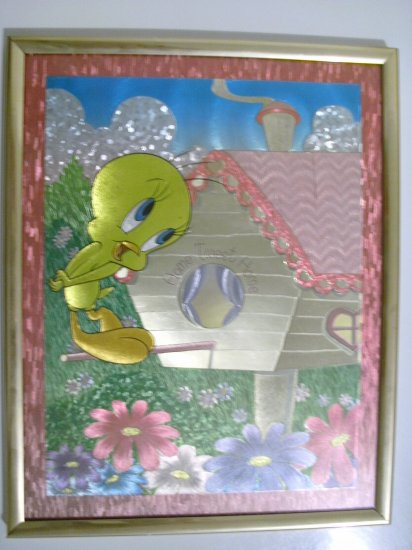 8 x 10 Foil Picture Of Tweety