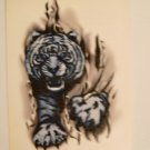 Tiger Breaking Through Temporary Tattoo