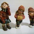 Set Of 3 Winter Children - Great for Christmas Scenes!!