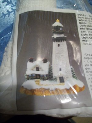 Ceramic Christmas Lighthouse - Paint Yourself - NEW
