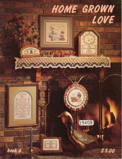 """Stoney Creek """"Home Grown Love"""" - Counted Cross Stitch Book"""