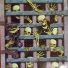 """42"""" X 72"""" Skeleton Breaking Thru Iron Gate Mural - *NIP* - Halloween Prop/Decoration"""