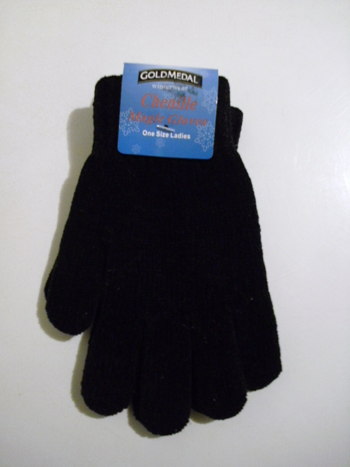 Gold Medal Chenille Magic Gloves - (Black) - One Size Ladies
