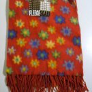 Gold Medal Fleece Scarf - Red/Floral Pattern - New