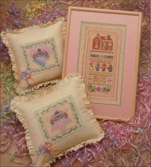 """Silver Thread """"A Pink Parfait"""" Counted Cross Stitch Leaflet"""