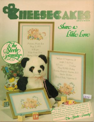 """Cheesecakes """"Share A Little Love"""" Counted Cross Stitch Leaflet"""