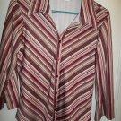 Langenis - Striped Blouse - Size Medium