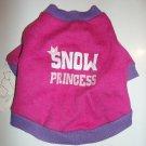 "Holiday Pet Tee - ""Snow Princess"" Pink & Purple Tee - Size X-Small - NEW"