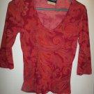 By Choice California - Multi-colored V Neck Shirt - Size Medium