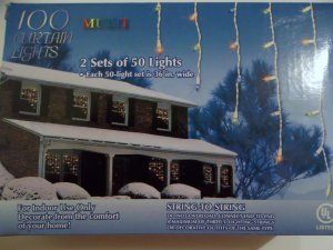 Lot of 4 Sets of Curtain Lights - Multi-Color - Indoor Use Only!!! - New In Box