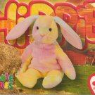 TY Beanie Baby Card #194 Hippie the Ty-Dye Bunny-Style # 4218-2nd Ed -Ser 4-1999