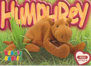 TY Beanie Baby Card   199 Humphrey the Camel-Style   4060-2nd Ed f3f5a0cc092