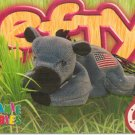 TY Beanie Baby Card # 205 Lefty the Donkey-Style # 4085-2nd Ed -Ser 4-1999