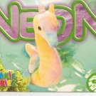 TY Beanie Baby Card # 212 Neon the Seahorse-Style # 4239-2nd Ed -Ser 4-1999