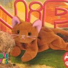 TY Beanie Baby Card # 214 Nip the Gold Cat-Style # 4003-2nd Ed -Ser 4-1999