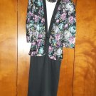 Multi-colored flowered Ladies Dress - Size 14